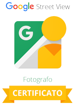Badge fotografo certificato Google Street View Trusted